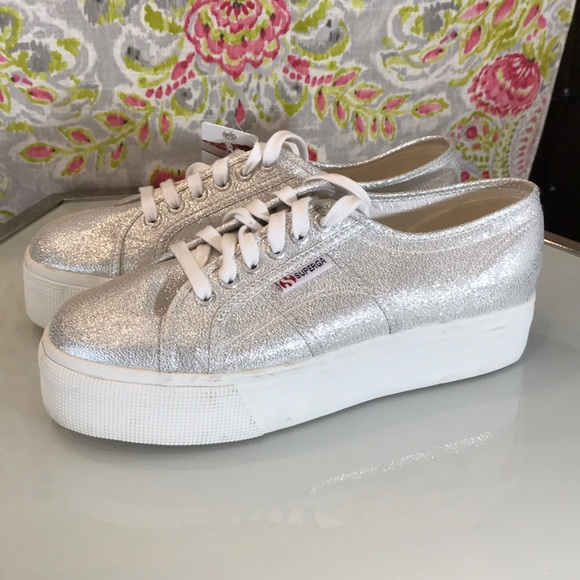 Superga Of Italy Wedge Sneakers Nwt